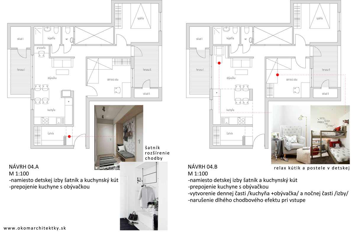 Architektonické poradenstvo MEDIUM - alternatíva 2